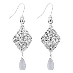 No. 1 Jenny Packham - Designer crystal filigree teardrop earring