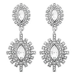 No. 1 Jenny Packham - Designer navette stone starburst surround earring