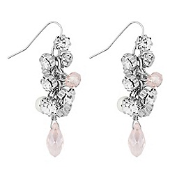 No. 1 Jenny Packham - Designer pastel crystal cluster earring