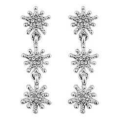 No. 1 Jenny Packham - Designer silver crystal star drop earring