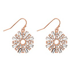 No. 1 Jenny Packham - Designer rose gold crystal sun drop earring