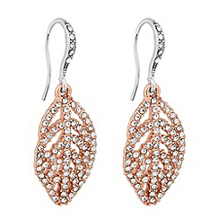 No. 1 Jenny Packham - Designer two tone leaf drop earring