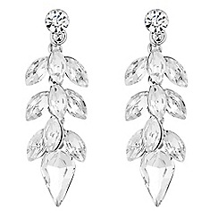 No. 1 Jenny Packham - Designer silver crystal charm drop earring