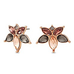 No. 1 Jenny Packham - Designer rose gold multi colour stud earring