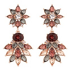 No. 1 Jenny Packham - Designer rose gold multi crystal statement earring