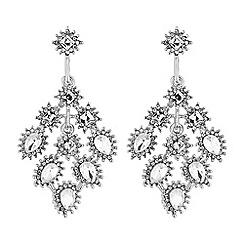 No. 1 Jenny Packham - Designer silver peardrop chandelier earring