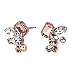 No. 1 Jenny Packham - Designer rose gold crystal cluster stud earring