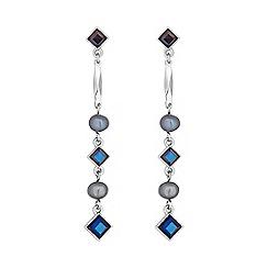 No. 1 Jenny Packham - Designer blue multi bead earring