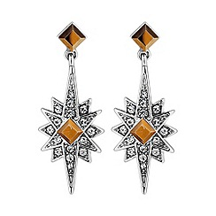 No. 1 Jenny Packham - Designer star burst drop earring