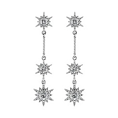 No. 1 Jenny Packham - Designer silver multi star earring