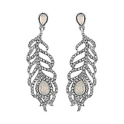 No. 1 Jenny Packham - Designer feather drop earring