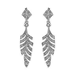 No. 1 Jenny Packham - Designer silver leaf earring