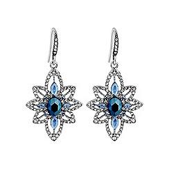 No. 1 Jenny Packham - Designer blue crystal drop earring