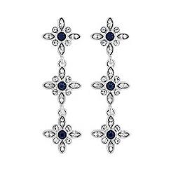 No. 1 Jenny Packham - Designer blue floral earring
