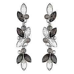 No. 1 Jenny Packham - Designer grey tonal statement navette earrings
