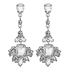 No. 1 Jenny Packham - Designer crystal floral drop earrings