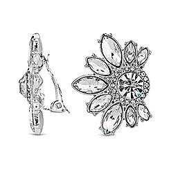 No. 1 Jenny Packham - Designer crystal cluster clip on earrings