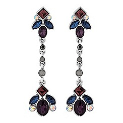 No. 1 Jenny Packham - Designer tonal crystal drop earrings