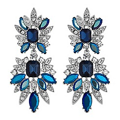 No. 1 Jenny Packham - Designer statement blue crystal earrings