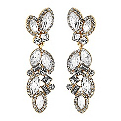 No. 1 Jenny Packham - Designer multi crystal drop earrings