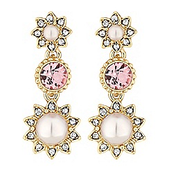No. 1 Jenny Packham - Designer blush pearl drop earrings