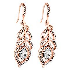 No. 1 Jenny Packham - Designer crystal feather drop earrings