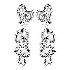 No. 1 Jenny Packham - Designer crystal cluster drop earrings