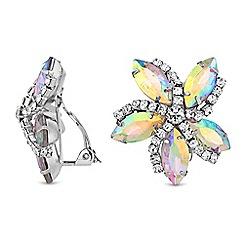 No. 1 Jenny Packham - Designer floral clip on earrings