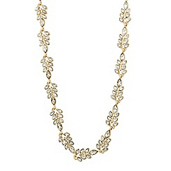 No. 1 Jenny Packham - Designer crystal leaf link necklace