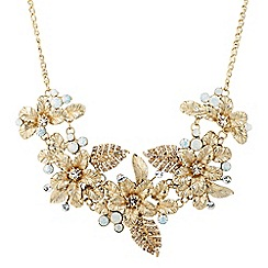 No. 1 Jenny Packham - Gold flower statement necklace