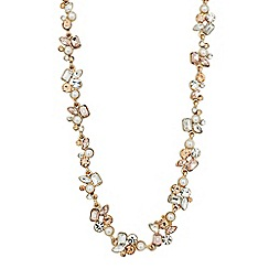 No. 1 Jenny Packham - Designer pearl and mixed stone link necklace