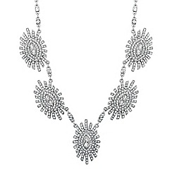 No. 1 Jenny Packham - Designer navette stone starburst surround necklace