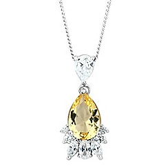 No. 1 Jenny Packham - Designer canary cubic zirconia pendant