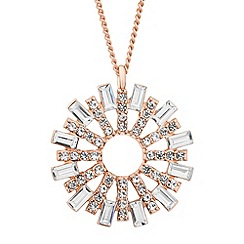 No. 1 Jenny Packham - Designer rose gold crystal sun pendant necklace