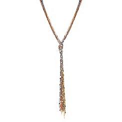 No. 1 Jenny Packham - Designer long multi chain tassel necklace