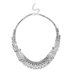 No. 1 Jenny Packham - Designer silver crystal art deco necklace