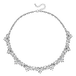 No. 1 Jenny Packham - Designer silver crystal vintage style collar necklace