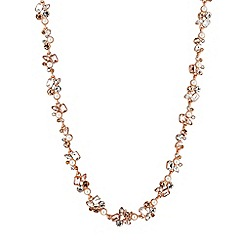 No. 1 Jenny Packham - Designer rose gold crystal cluster necklace