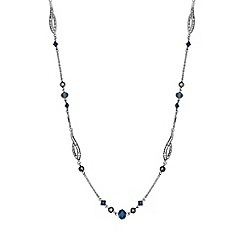No. 1 Jenny Packham - Designer blue multi bead necklace