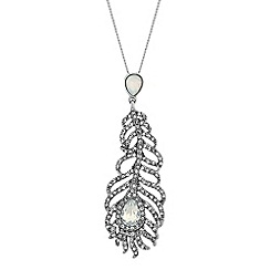 No. 1 Jenny Packham - Designer silver feather necklace