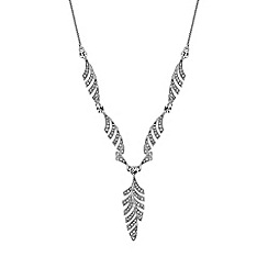 No. 1 Jenny Packham - Designer pave leaf y necklace