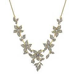 No. 1 Jenny Packham - Designer gold crystal floral necklace