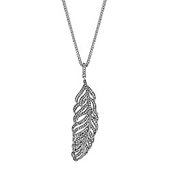 No. 1 Jenny Packham - Designer crystal feather necklace