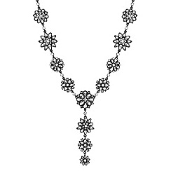 No. 1 Jenny Packham - Designer grey tonal floral y necklace