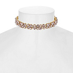 No. 1 Jenny Packham - Designer pearl and crystal ribbon tie choker necklace