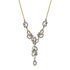 No. 1 Jenny Packham - Designer multi crystal y necklace