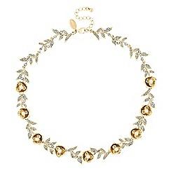 No. 1 Jenny Packham - Designer gold floral necklace