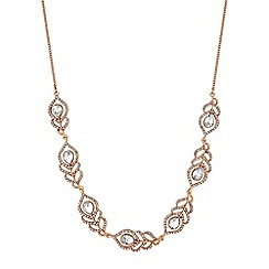 No. 1 Jenny Packham - Designer crystal feather necklace