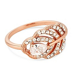 No. 1 Jenny Packham - Designer rose gold peacock feather ring