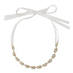 No. 1 Jenny Packham - Designer crystal leaf ribbon tie hair halo